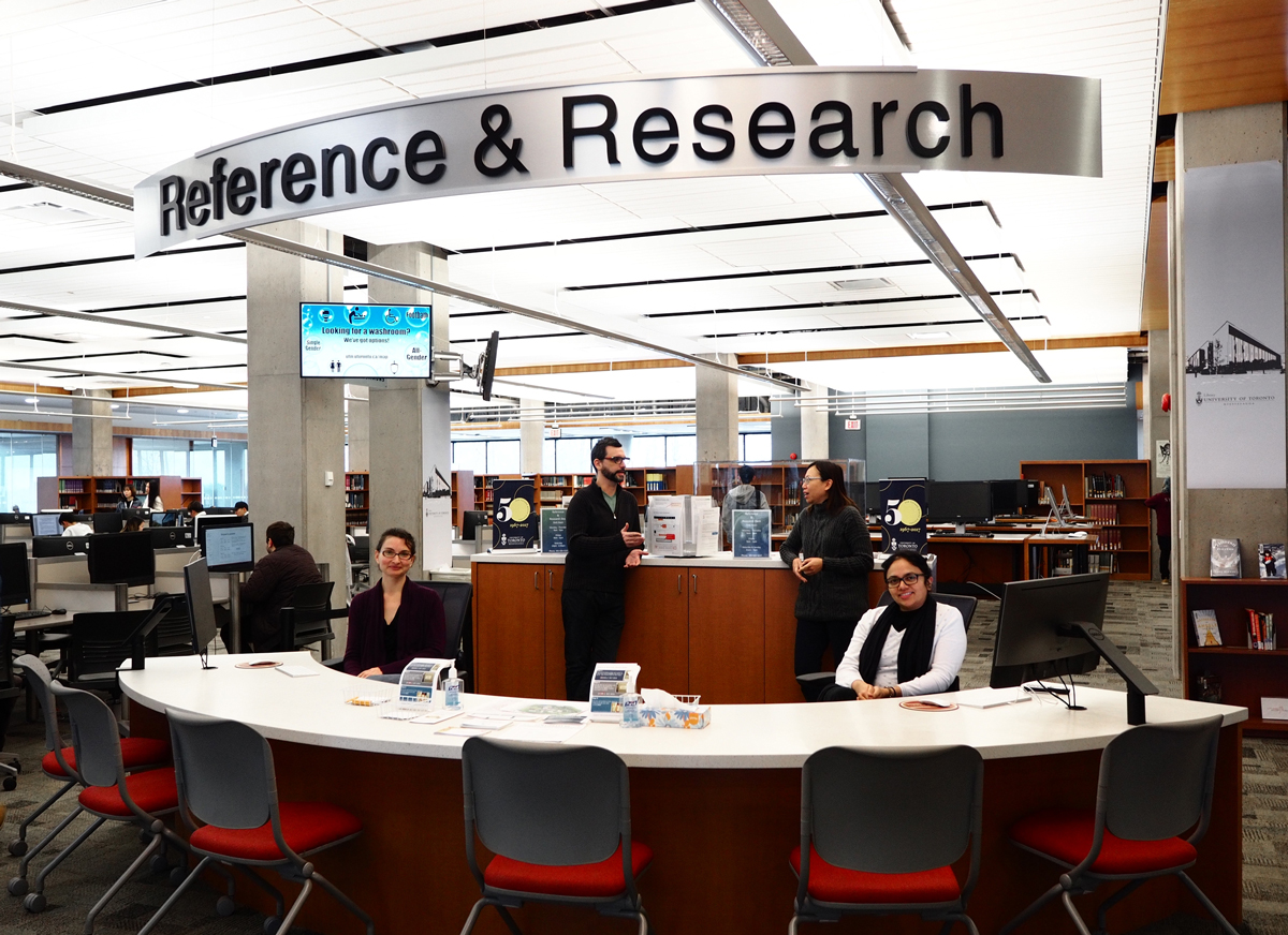 Reference desk area